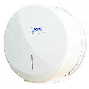 Despachador / Dispensador de papel higiénico maxi AE58000 Color: Blanco Dimensiones en milímetros: Alto: 340 Largo: 335 Ancho: 135 Capacidad: 1 rollo máximo de 500 m de papel Contenido por caja: 1 pieza