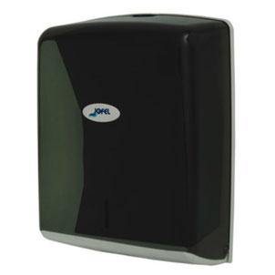 Despachador / Dispensador  de toalla interdoblada Z AH37403 Color: Humo Dimensiones en milímetros: Alto: 278 Largo: 275 Ancho: 130 Capacidad: 600 toallas Contenido por caja: 1 pieza