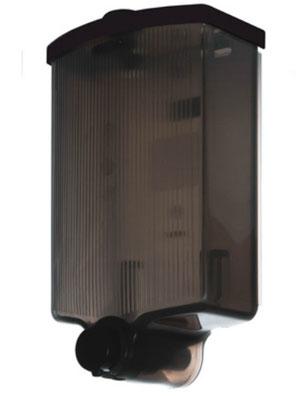 Jabonera  Fiesta rellenable DJ11010 Color: Humo con pulsador negro Dimensiones en milímetros: Alto: 224 Largo: 134 Ancho: 82 Capacidad: 1000 ml / 33.81 oz Contenido por caja: 12 piezas