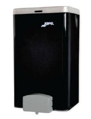Jabonera Total Vision rellenable mini DJ21010 Color: Pulsador gris, vaso humo y tapa inoxidable satinada Dimensiones en milímetros: Alto: 170 Largo: 130 Ancho: 120 Capacidad: 1400 ml / 47.34 oz Contenido por caja: 1 pieza