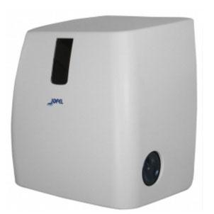 Toallero / Despachador precorte con visor AG54000 Color: Blanco Dimensiones en milímetros: Alto: 370 Largo: 320 Ancho: 243 Capacidad: Papel encolado de 40 g Contenido por caja: 1 pieza