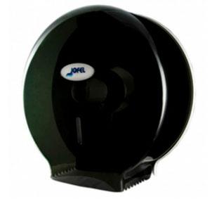 Despachador / Dispensador de papel higiénico mini AE59403 Color: Humo Dimensiones en milímetros: Alto: 290 Largo: 290 Ancho: 140 Capacidad: 1 rollo máximo de 300 m de papel Contenido por caja: 1 pieza