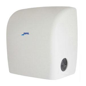 Toallero / Despachador precorte sin visor AG52000 Color: Blanco Dimensiones en milímetros: Alto: 370 Largo: 320 Ancho: 243 Capacidad: Papel encolado de 40 g Contenido por caja: 1 pieza
