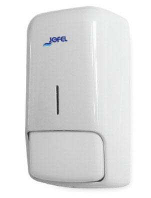 Jabonera cartucho DJ80001 Color: Blanco con base blanca Dimensiones en milímetros: Alto: 270 Largo: 130 Ancho: 110 Capacidad: 500-1000 ml / 16.91-33.81 oz Contenido por caja: 2 piezas