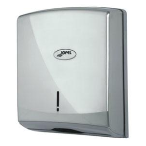 Despachador / Dispensador  de toalla interdoblada Z AH35001 Color: Metalizado Dimensiones en milímetros: Alto: 350 Largo: 270 Ancho: 135 Capacidad: 600 toallas Contenido por caja: 1 pieza