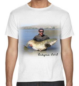 personnalisé un t-shirt de peche