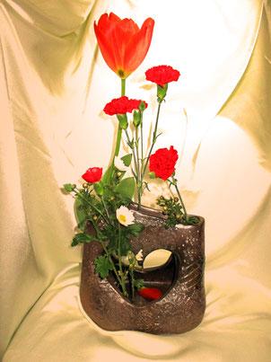 砂漠の薔薇  花入れ  立花雪