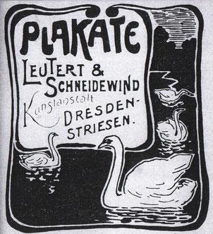 Lithographie: Plakate - Lautert und Schneidewind 1900? Inserat?