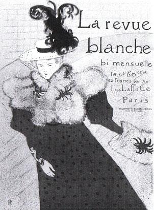 La revue blanche (Henri de Toulouse Lautrec).