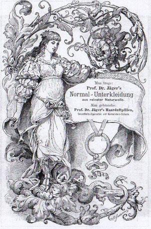 Historismus Werbung fuer Unterwaesche von 1897.