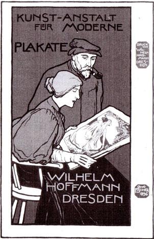 Otto Fischer Kunst - Kunst-Anstalt für moderne Plakate (Hoffmann) 1896 Plakat.