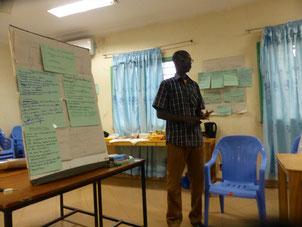 Präsentation einer Gruppenarbeit