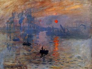 モネ「印象・日の出」 1873年 油彩 カンヴァス 48x63cm パリ マルモッタン美術館蔵