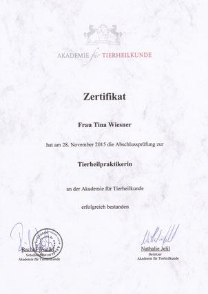 zertifizierte Tierheilpraktikerin