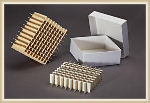 Raster und Gefache mit Einfrierbox
