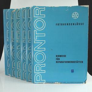 Prontor Fotoverschlüsse Reparaturhandbücher    © engel-art.ch