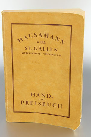 Hand und Preisbuch Hausammann & Co St. Gallen 1926  © engel-art.ch
