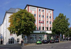 Ansicht vom Gebäude in dem sich das Büro befindet
