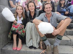 Helga mit Simone und Klaus