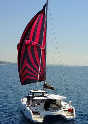 catamaran Lagoon 42, sailing offshore, offshore sailing, sailing practice, sailing journey, sailing holiday, night sailing