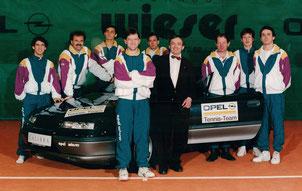 hinten von links: Markus Pöllhuber, Hans Sommer, Christian Schuch, Andreas Kolar, Hans Eigner,Thomas Vorderwinkler, Gerald Ruttensteiner                          vorne von links: Hans Ahrer, Wolfgang Wieser