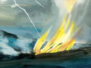 La fumée dans la Bible symbolise la destruction et l'anéantissement total.