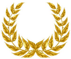 La Couronne de victoire de l'athlète est associée à la couronne de vie offerte au vainqueur de la course chrétienne. Cette couronne de lauriers sous-entend des efforts, de la persévérance, de l'endurance, la détermination pour atteindre le vie éternelle.