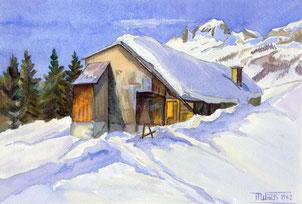 Nr.2116  Flumserberg Winterlandschaft