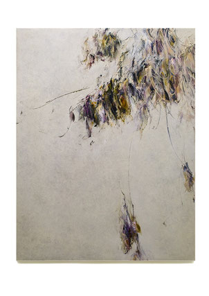 Skriptur  2018/2019 Kunstharz, Steinmehl, Acrylfarbe, Ölfarbe auf Leinwand 130 x 100 cm