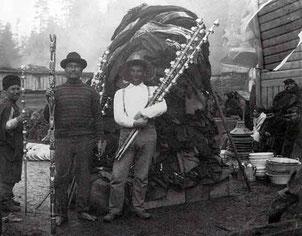 Image historique d'un potlach