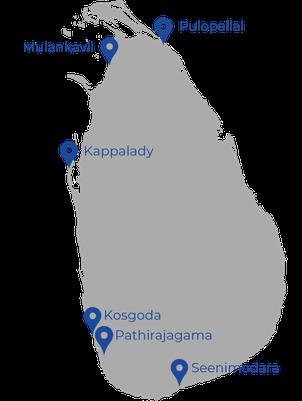 FRIENDS Kindergärten Standorte Sri Lanka
