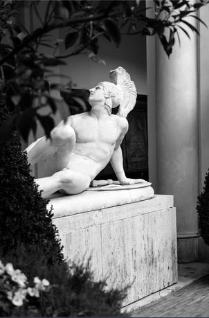 Nel mio scatto, la statua di Filippo Albacini presso l'Accademia Nazionale di San Luca a Roma