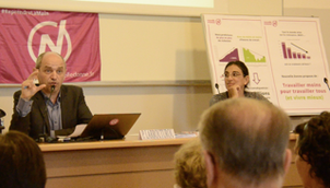 Réunion publique à Sciences Po Aix avec Pierre Larrouturou  le 20 mai 2016.