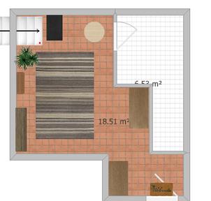 Eingangsbereich im Erdgeschoss incl. kleinem Abstellraum, separater Eingang