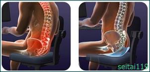 腰痛予防椅子の座り方