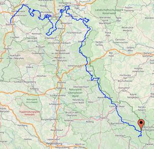 Karte Fichtel-Bayerwaldtrail 414 Km 12049 Hm