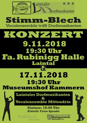 #VocalensembleMittendrin, Laintaler Dorfmusikanten, Stim-Blech, Stimmen-Blech, Vocalensembel trifft Dorfmusikanten