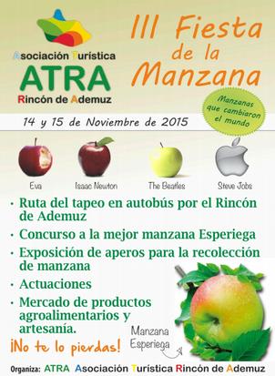 Fiesta de la Manzana Esperiega en Ademuz 2015 Programa