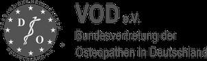 Logo des Berufsverbandes VOD e.V. der Osteopathen in Deutschland