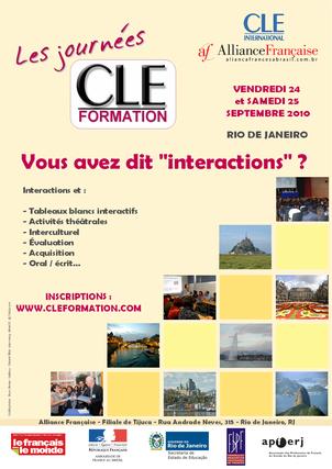 Affiche des Journées CLE Formation à Rio de Janeiro - 2010