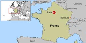 Localisation de Mulhouse