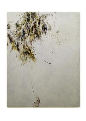 Skriptur  6.6.2018 Kunstharz, Steinmehl, Acrylfarbe, Ölfarbe auf Leinwand, 130 x 100 cm, Privatsammlung United Kingdom
