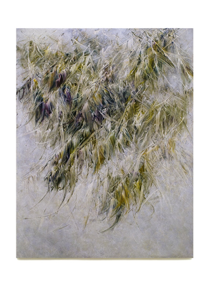 Skriptur 12.8. 2016 Kunstharz, Steinmehl, Acrylfarbe, Ölfarbe auf Leinwand, 130 x 100 cm, Privatsammlung United Kingdom