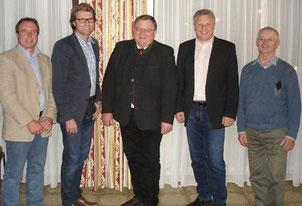 Fürstenzeller Kandidaten für den Kreistag: v.li. Helmut Wimmer, Hans Jörg Wagmann, Ludwig Danner, Dr. Josef Hechberger, Josef Zerer (es fehlt: Dr. Franz Hölzl)