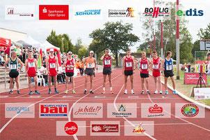 Start der 10.000m der Männer. Professionelle Ausrichtung dank großer Unterstützung. (Foto: Jakob Schmidt, bearbeitet: Verein).