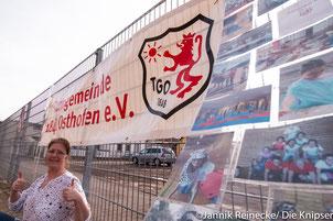 (l.) Kirsten Scriba, Übungsleiterin bei der TGO.
