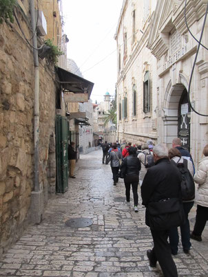 The first stations of Via Dolorosa