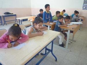 4月から開校したシリア難民の子どもたちのための補習校