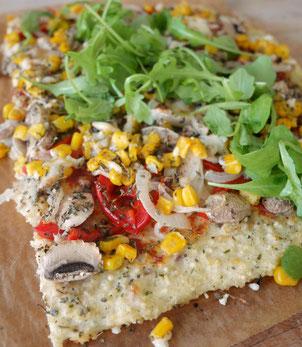 Hirse-Gemüsepizza