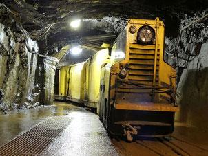 Fahrt mit der Grubenbahn